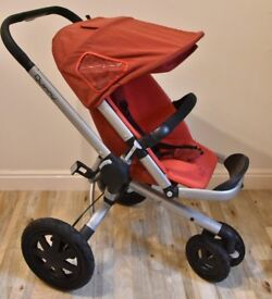 Quinny Buzz 3-in-1 Travel System Pushchair Stroller + Carrycot + Pebble Car Seat + All Terrain Tyres