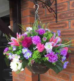 Artificial flower Hanging baskets £22 each