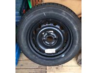 Unused 185/55 car wheel and tyre