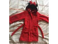 M & S girls Minnie the Mouse dressing gown size 5-6