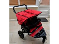 Out N About Nipper Double Pram Red