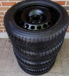 205 55 16 - GISLAVED NORDFROST 5 - SNOW TIRES on OEM VW RIMS - 5x112 ( JETTA, GOLF) 3 SETS TO CHOOSE FROM