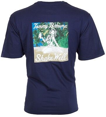 Tommy Bahama Mens T Shirt Shake Well Hula Girl Drink Navy Relax Camp Xl 3Xl  45