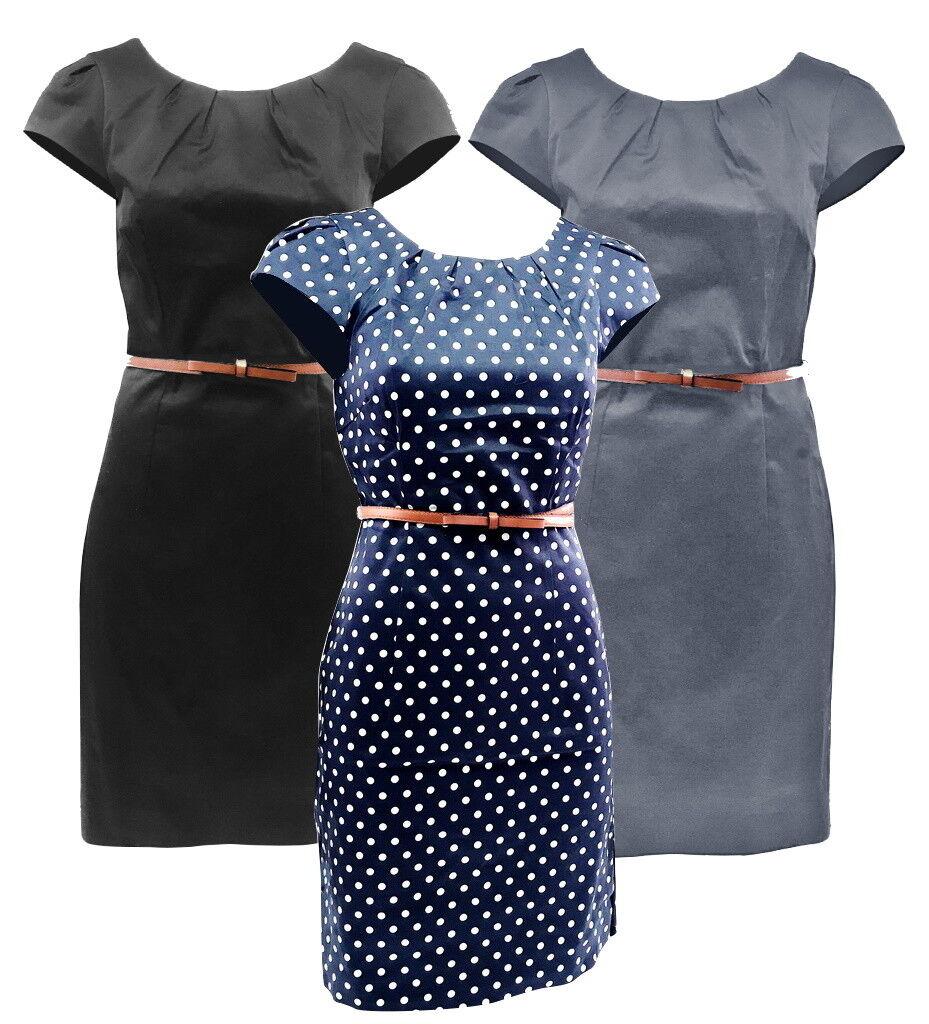 VERO MODA Damen Etuikleid Kaya Kurzkleid Business Freizeit Mini Kleid Abendkleid