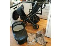 Uppababy Vista pushchair with Carrycot and rumble seat