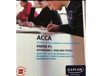 ACCA P1 Study text by Kaplan. Governance, Risk & Ethics. Sep&Dec '17, Mar&Jun '18 - Used (good)