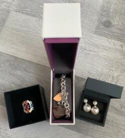 Job lot of 925 sterling silver jewellery