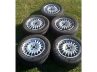 x5 OEM BMW E30 4x100 14x6J Style 13 Bottle Top/Cap Alloy Wheels 1125688 VW Golf