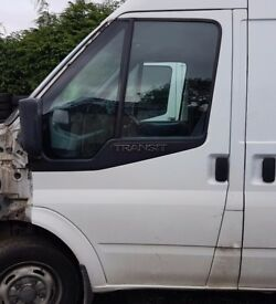 Ford Transit MK7 Set Of Complete Front Doors With Electric Windows. Frozen White. Excellent Conditon