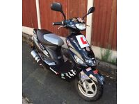 * 2015 (15) LEXMOTO SCOUT 50 50CC BLACK MOPED PED SCOOTER MOTORBIKE MOTORCYCLE *