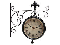 Fallen Fruits TF005 Clock and Thermometer on Hanging Bracket-garden or indoor
