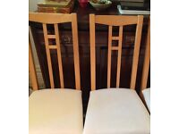 "6 Ikea ""Aron"" dining chairs."