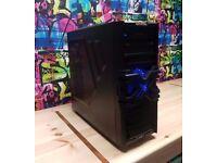 🖥 Quad 4 Core Gaming PC 🖥 AMD FX-4300 3.8GHz - 8GB - 1TB HDD - 2GB R7 360 - Blue LED Fans - Win 10