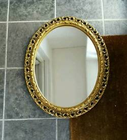 Vintage gold framed mirror florentine reproduction Italian style nice condition