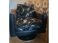 3 Seater Sofa & 2 Single Swivel Chairs