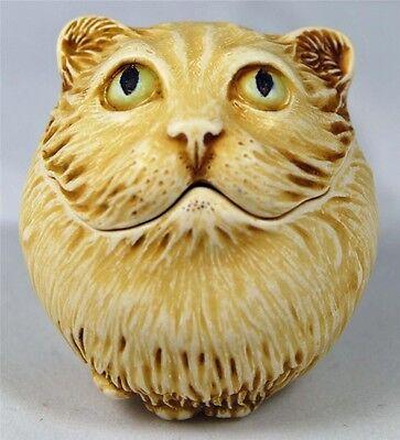 HARMONY KINGDOM ROLY POLY CASS THE CAT ADAM BINDER TJRPCA3 - MIB