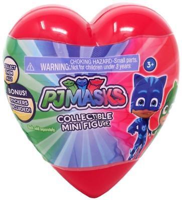PJ Masks Blind Bag Mystery Collectible Mini Figure Bonus Stickers in Heart NEW - Kid In Spongebob Pajamas