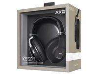 AKG K550 MKII Premium Foldable Closed Back Over-Ear Headphones NEW SEALED