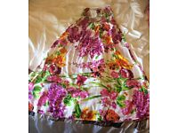 Brand new floral bandeau style (strapless) maxi dress - size medium (12/14)