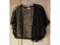 Ladies' Glitter jacket-type top