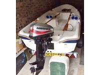 12ft Open Fibreglass Boat. 15hp Mariner