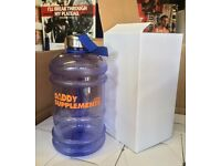 Gym Water Jug Bottle 2.2L Half Gallon Shaker BPA Free   Daddy Supplements