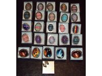 Job lot of 24 cabochon brooches in gift boxes