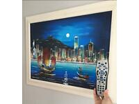 Framed Painting of Hong Kong Skyline