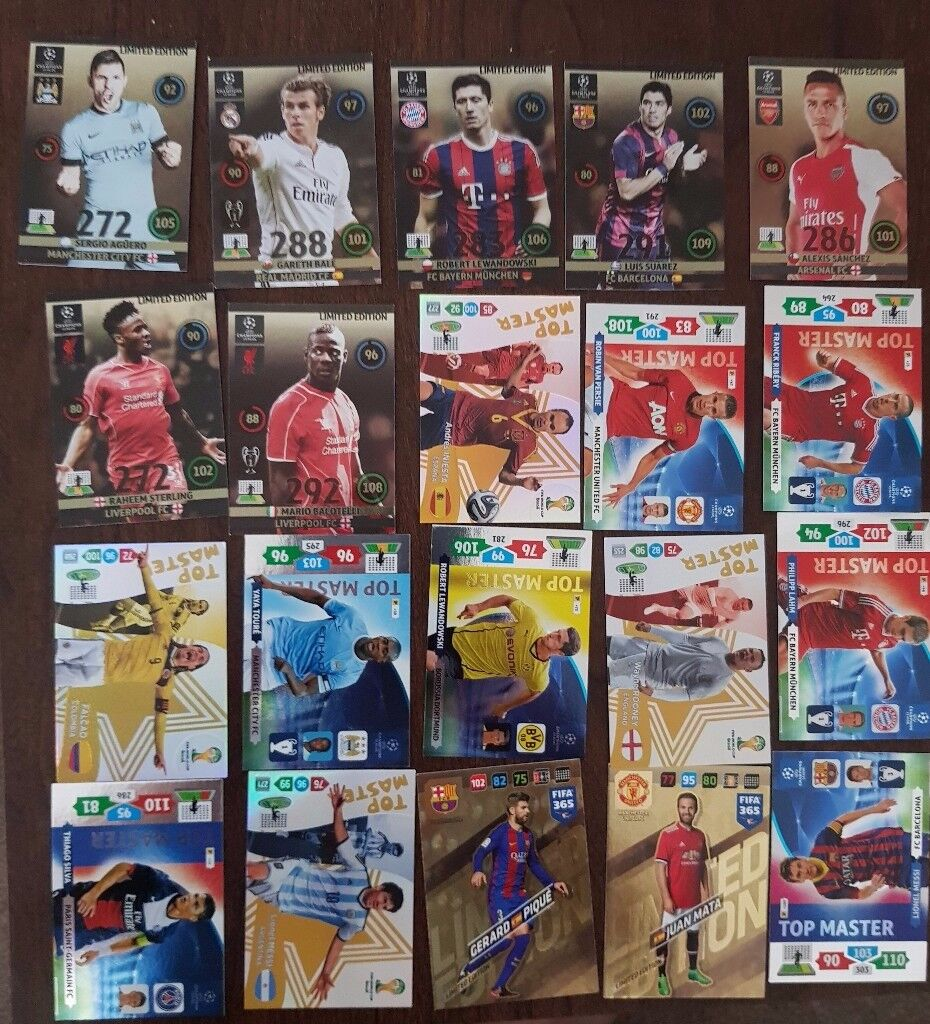 FOOTBALL TRADING CARDS LIMITED EDITION WITH TOP MASTER AND ULTRA PRO BINDER