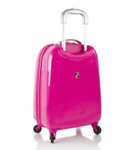 Heys America Mattel Monster Kids Spinner Luggage Pink