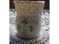 Belleek daisy and shamrock small jug