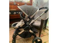 Icandy peach grey unisex buggy