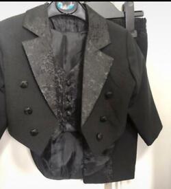 3 piece black boy suit