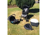 Silver Cross 3D Travel System pushchair pram Single Seat Stroller Black
