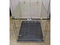 ROSEWOOD LARGE FOLDING DOG / PET CAGE – L. 36 inches, W. 25Vinches, H. 28 inches