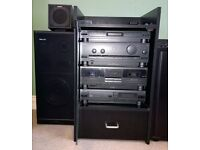 Philips Music System (CD, FM Tuner, Amp, Double Cassette Deck, Speakers)