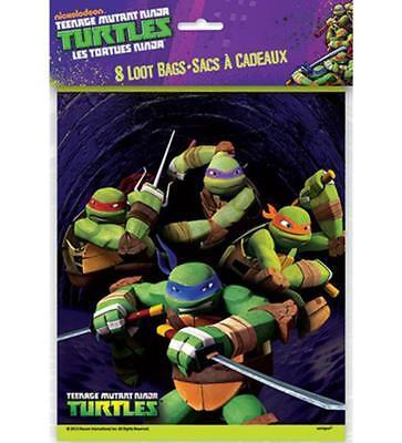 TMNT Teenage Mutant Ninja Turtle Treat Favor Plastic Bags 8 Ct Birthday Party