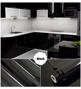Invest inYour Kitchen for a Low Budget!!!! Different Colors High quality  waterproof vinyl decorative film Free Shipping