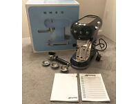 Smeg ECF01BLUK Espresso Coffee Machine