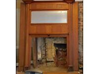 Large Wooden Fire Surround 100 Years Old
