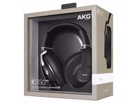 AKG K550 MKII Premium Foldable Closed Back Over-Ear Headphones NEW SEALED