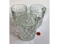 french cut glass half pint beer mugs