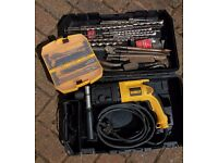 DeWalt SDS Hammer Drill D25003 with drill and chisels