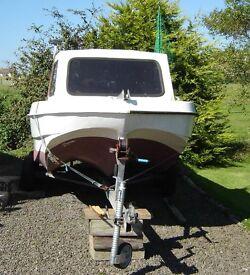 17 Ft Shetland Fisher & Road trailer - Fishing / pleasure boat