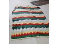Large multicoloured wool blanket