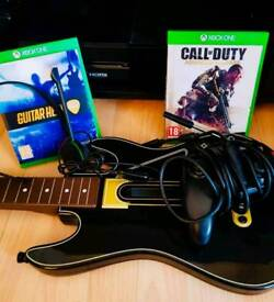 Xbox one guitar and game