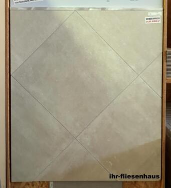 Feinsteinzeug Fliesen Bodenfliesen Steinoptik beige 60,4x60,4cm in ...