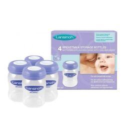 Lansinoh - 4 pcs Breastmilk Storage Bottles