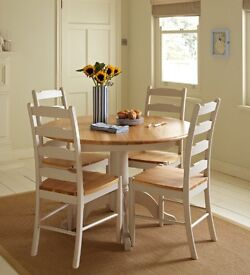 John Lewis Regent dining table and chairs 4 to 6 seaters