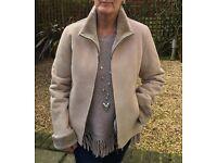 Ladies fashionable imitation sheepskin jacket